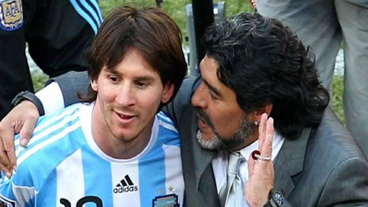 Diego Maradona and Lionel Messi