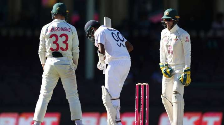 Ravichandran Ashwin against Australia in the Sydney Test.